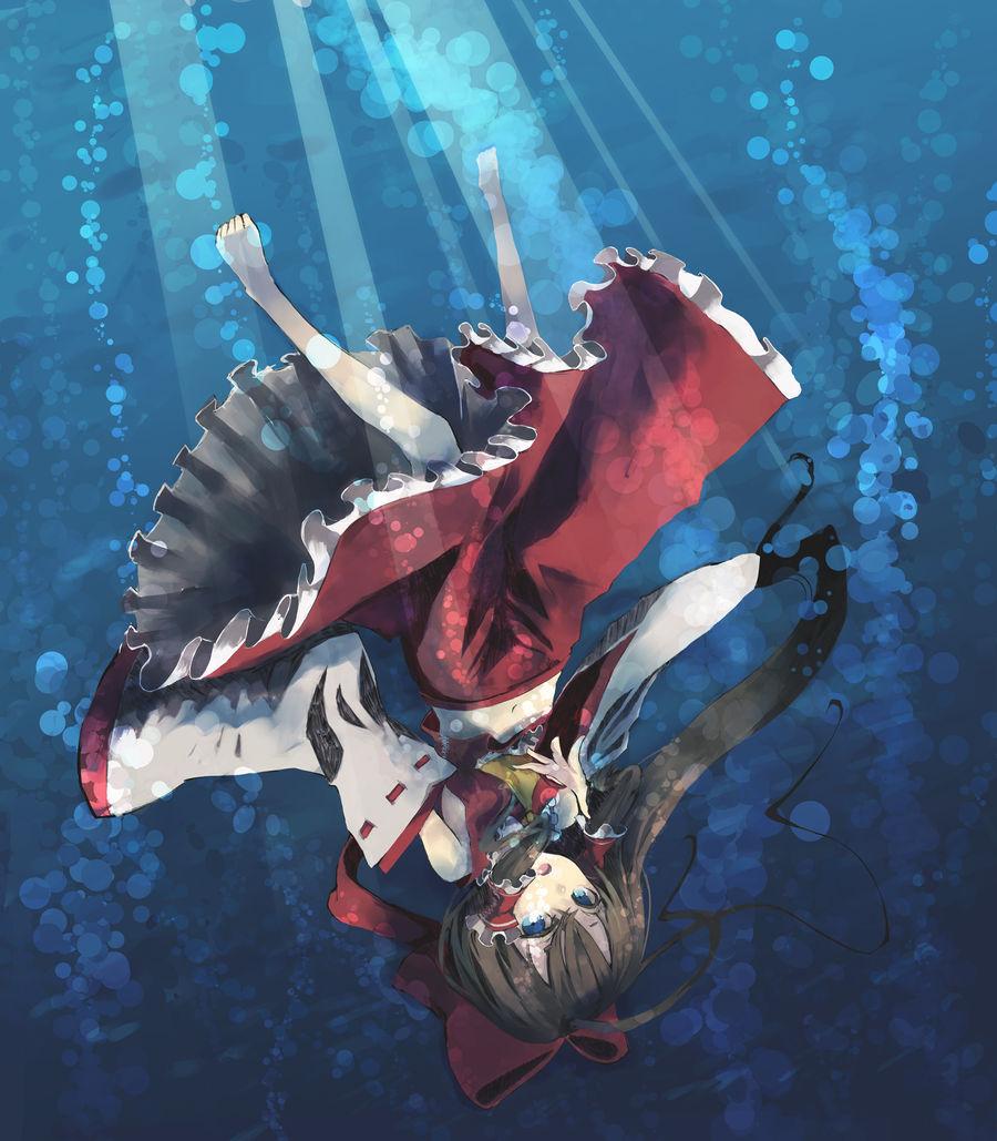 Shrine Maiden submerged
