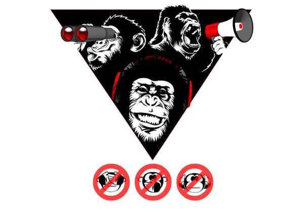 New wise monkeys by horizonred