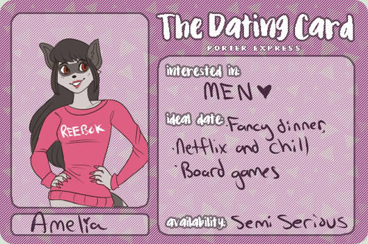PE: dating card for amelia!