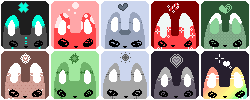 Icon Set: BUNNIES! by RideAlongWithMe