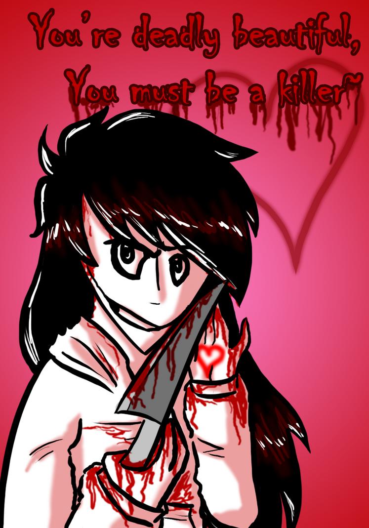 Jeff the Killer Valentine by Origamigirl1223