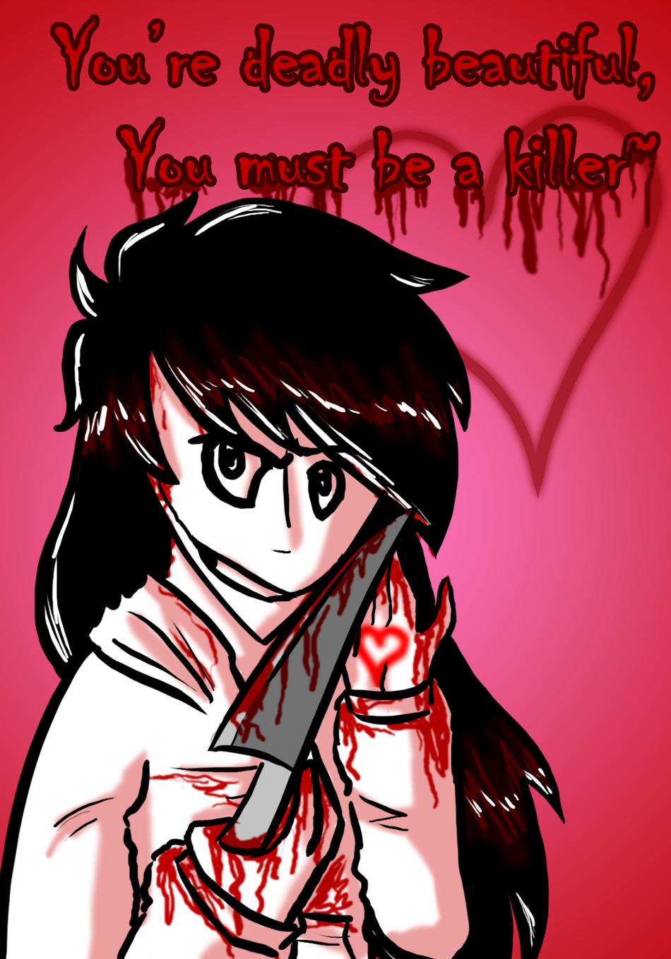 Jeff The Killer Valentine By Origamigirl1223 Jeff The Killer Valentine By  Origamigirl1223
