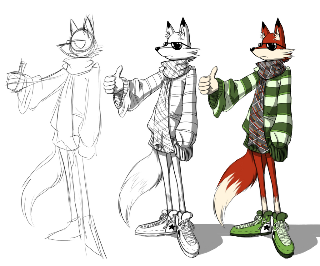Cool fox concept and progression by samdesamd on deviantart for Cool fox drawings