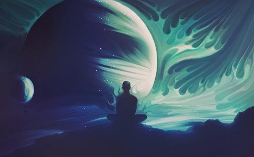 Meditation universe by pulsatori on deviantart - Meditation art wallpaper ...