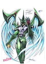 Yu-Gi-Oh! Hero Elemental Avian by leandrw