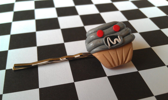 Robot Cupcake Bobby Pin by Gynecology
