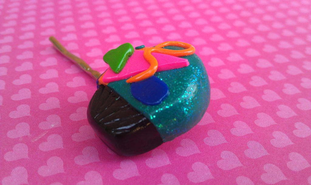 80s Design Themed Cupcake Bobby Pin by Gynecology