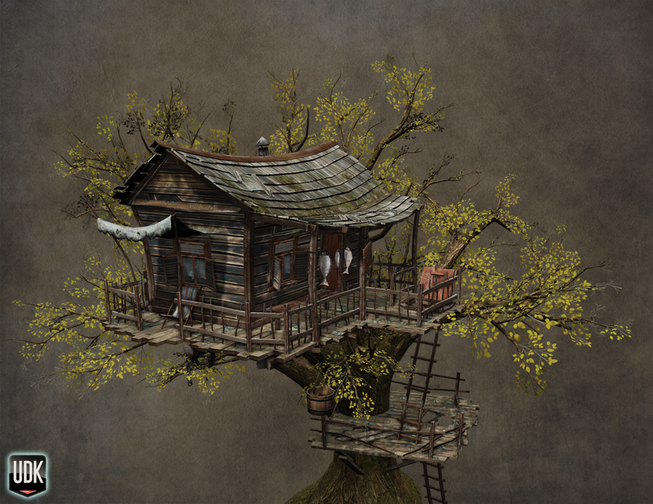 Tree Hut Diorama — polycount