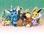 Eevee and its evolutions