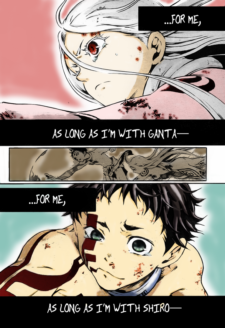 As long as I'm with... ~Shiro and Ganta~ by AbyVanEnvurio