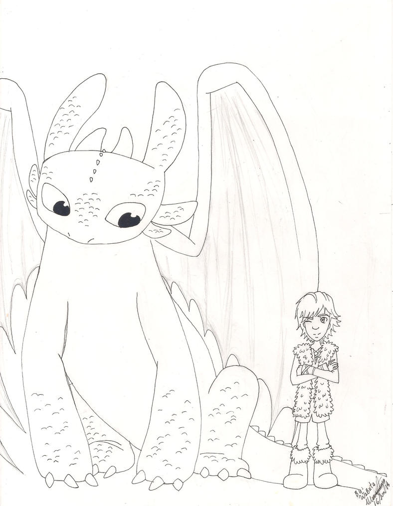 How To Train Your Dragon (Toothless and Hiccup) by AbyVanEnvurio