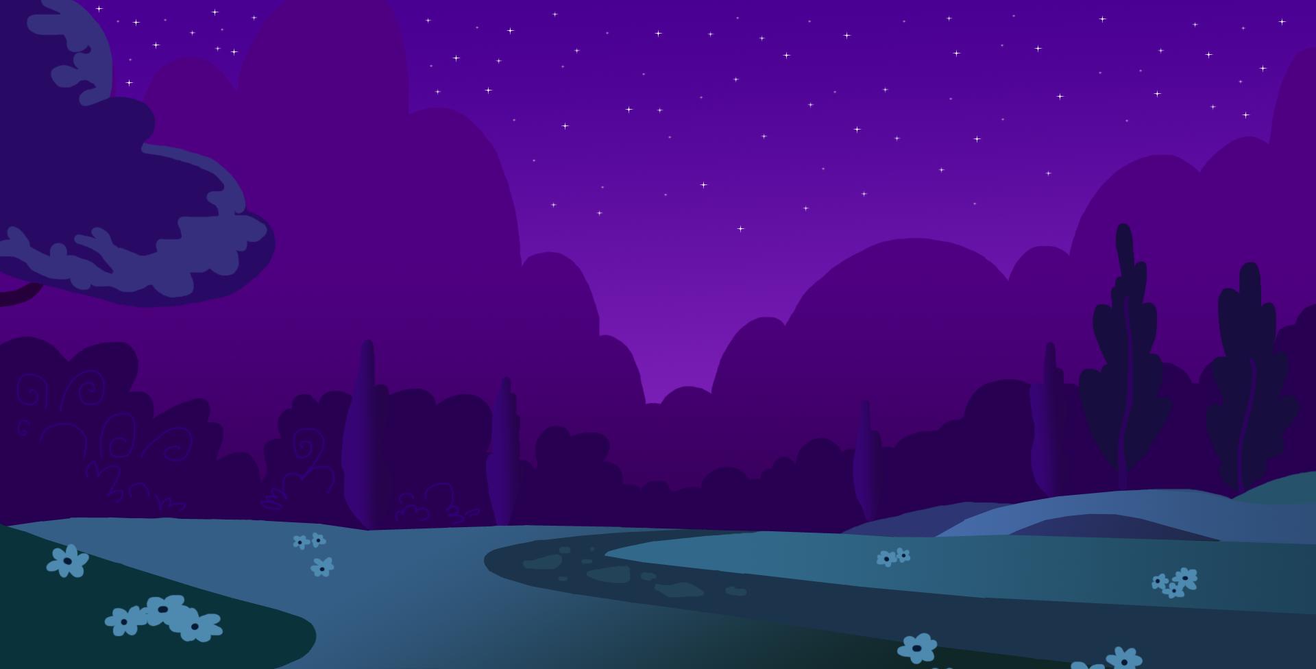 MLPFiM Night background by TeaganLouise