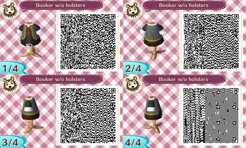 Animal Crossing QR Code Booker DeWitt by TeaganLouise