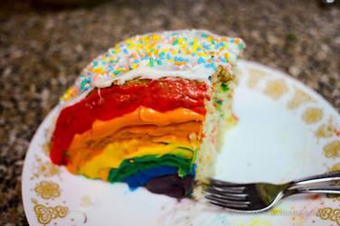 Rainbow Cake by PiratesGlory