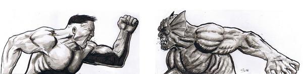 Hulk VS Abomination by craigcermak