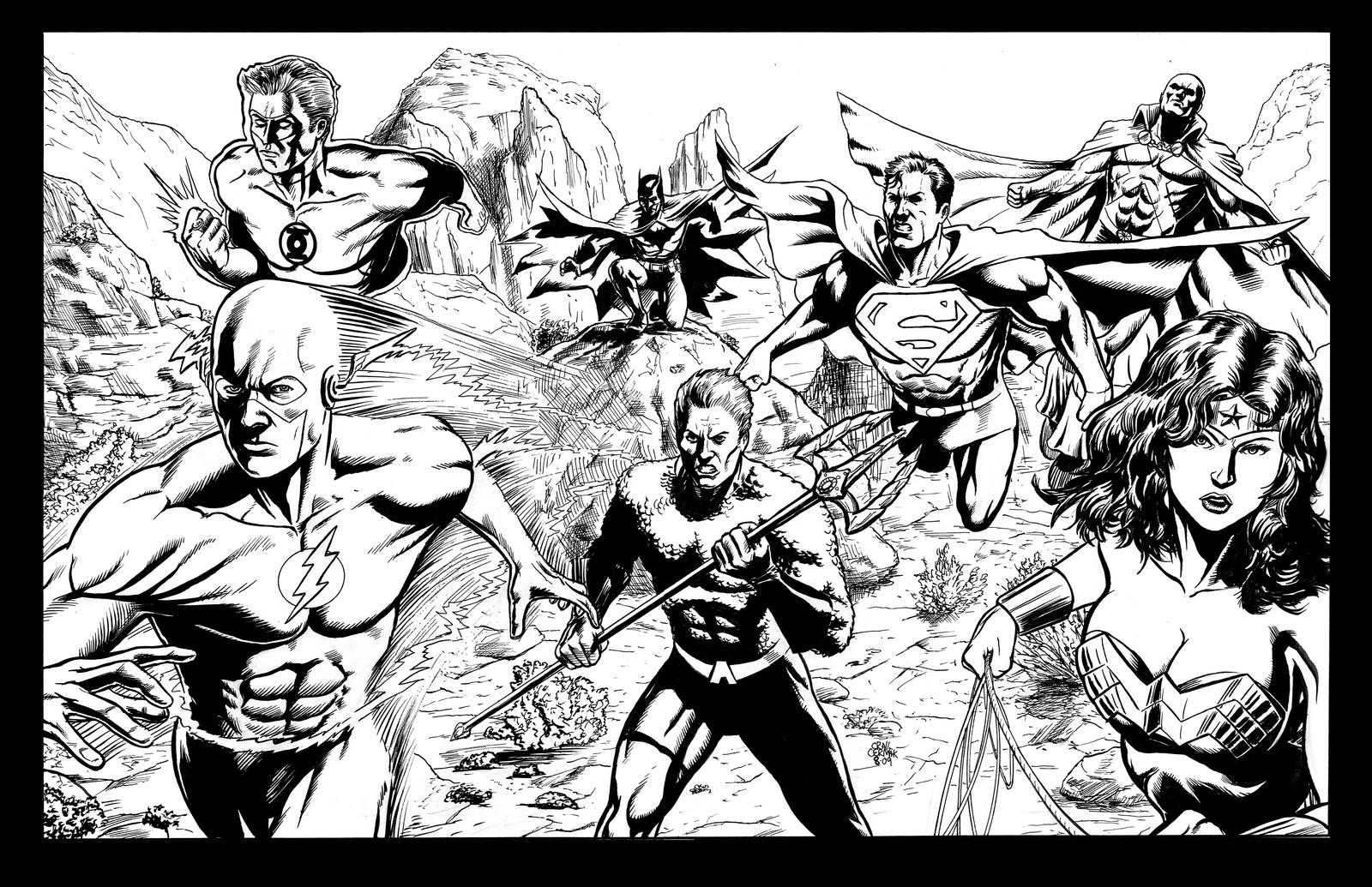 Printable coloring pages justice league - Justice League America By Craigcermak Justice League America By Craigcermak