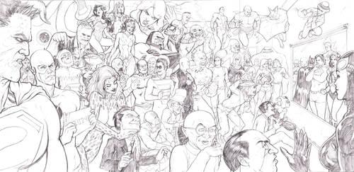 DC Villains Line-Up Pencils by craigcermak