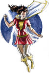 Mary Marvel watercolor