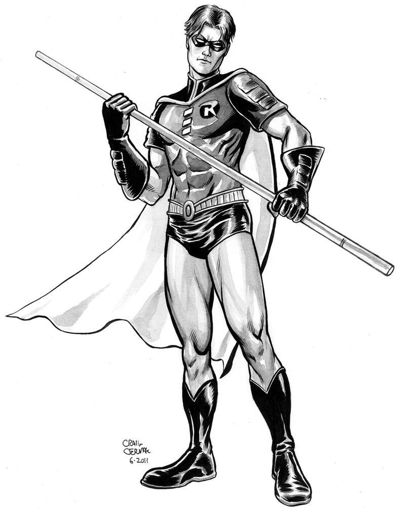 Line Drawing Robin : Tim drake robin by craigcermak on deviantart