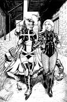 Black Canary and the Huntress by craigcermak