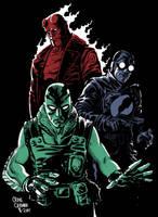 Hellboy, Lobster Johnson, Abe by craigcermak