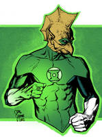 Green Lantern Tomar Re colors by craigcermak