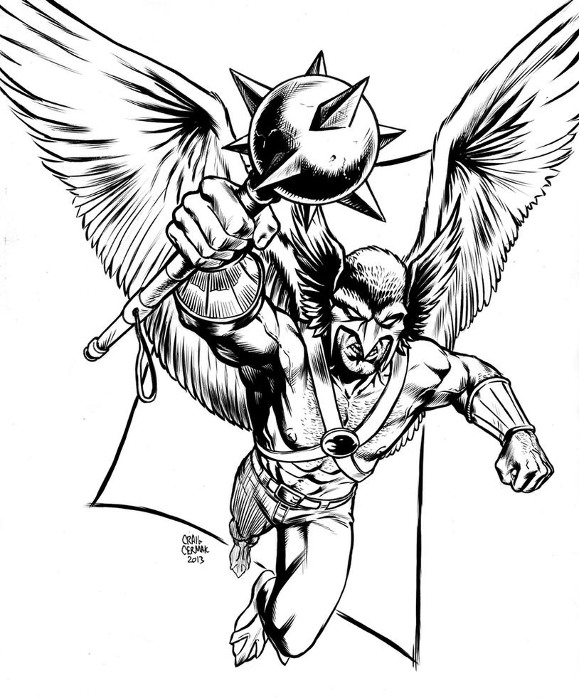 hawkman coloring pages - photo#5
