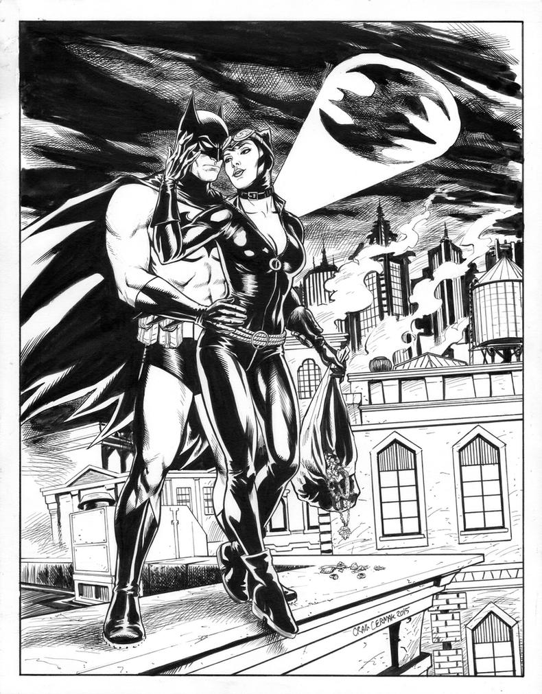 Batman and Catwoman by craigcermak