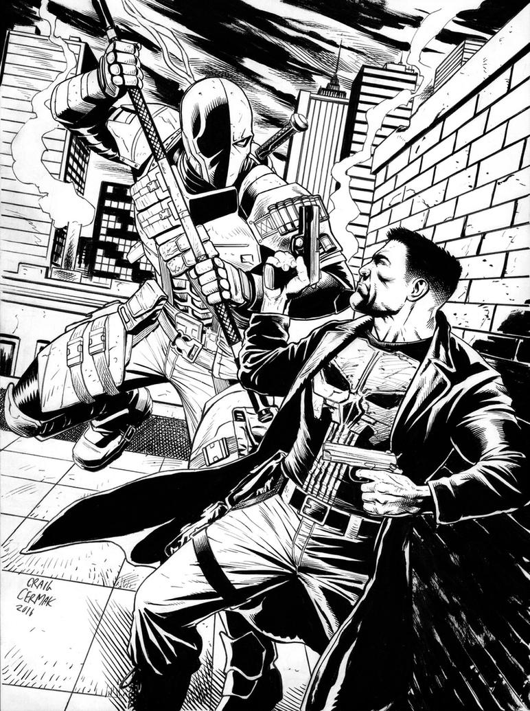 Deathstroke vs Punisher by craigcermak