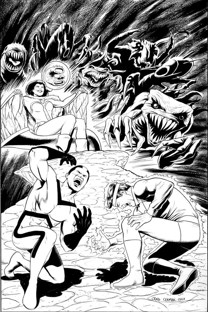 Legion of Super-Heroes commission cover by craigcermak