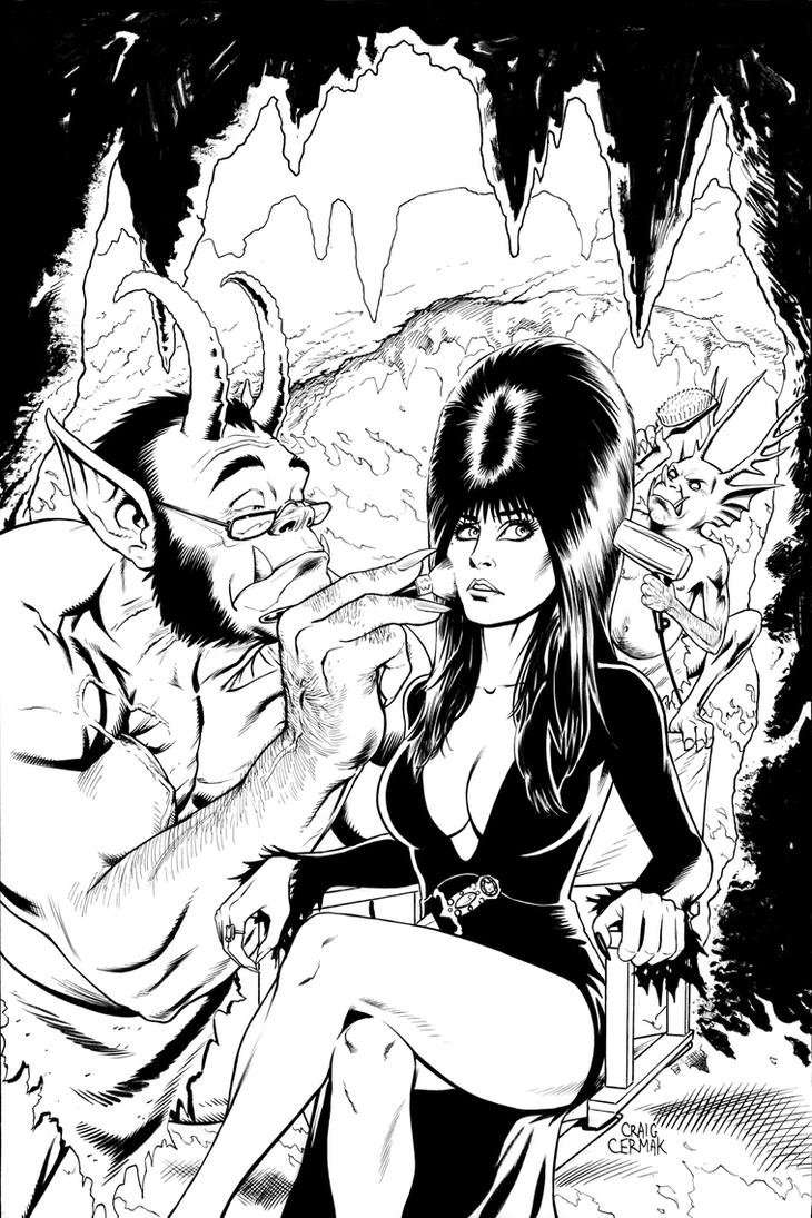 Elvira cover #5 by craigcermak