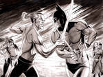 Batman vs Ra's Al Ghul  - Inkwash
