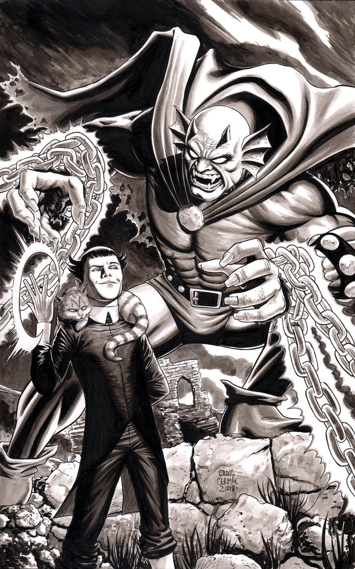 Etrigan the Demon and Klarion the Witch Boy by craigcermak