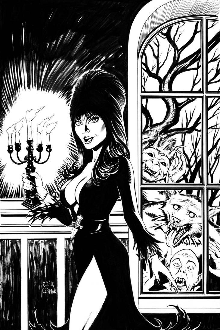 Elvira, Mistress of the Dark cover #9 by craigcermak
