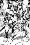 Killer Croc, Man-Bat, and Scarecrow