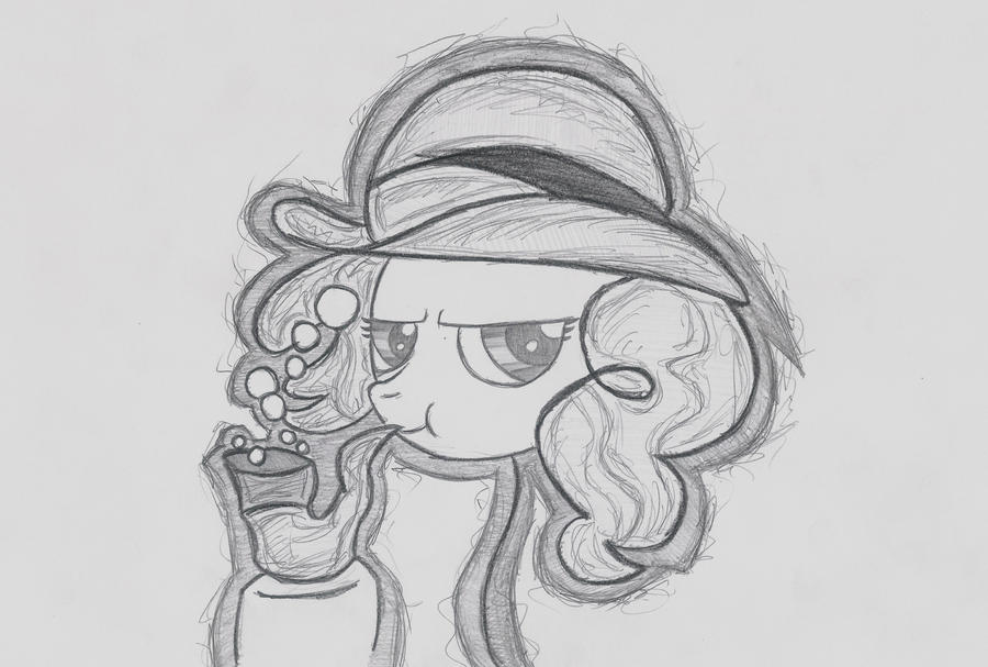 Pinkie Pie with bubble pipe by AstmaInhaler