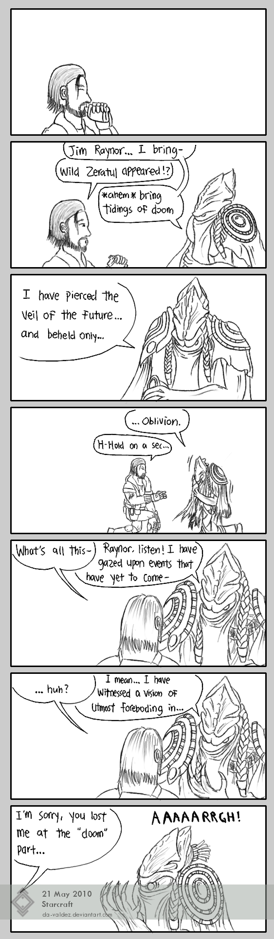 Wild Zeratul Appeared by DA-Valdez
