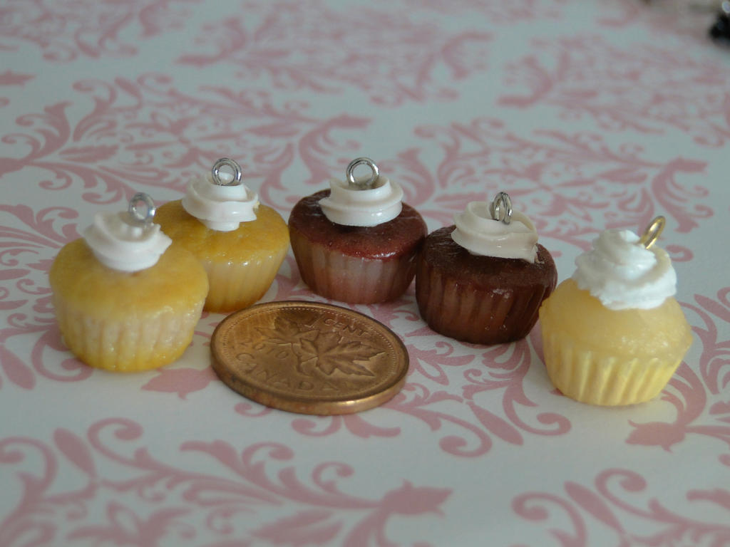 Polymer Clay Charms Cupcakes Polymer clay cupcake charms by