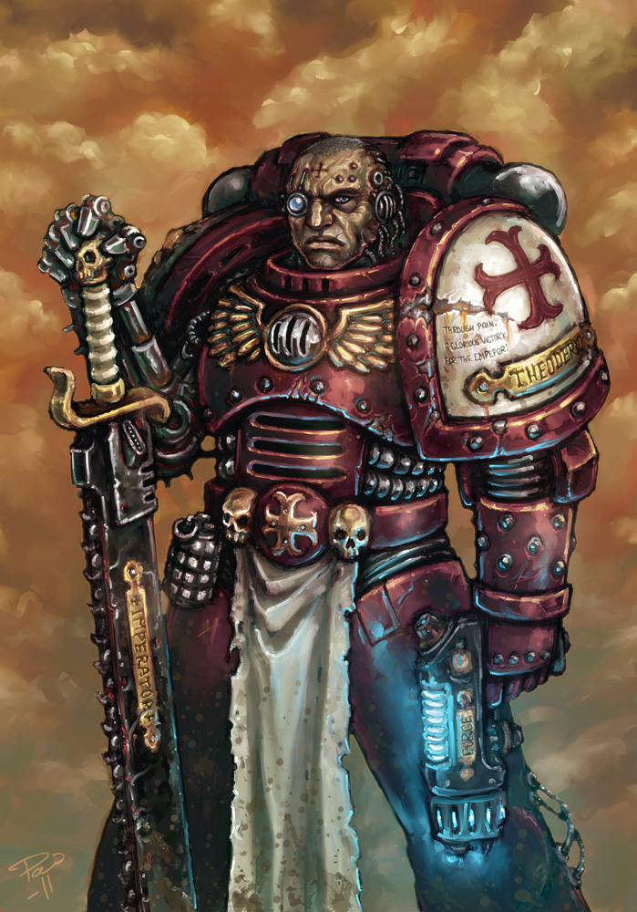 Space Marine Veteran by PaleLonginus