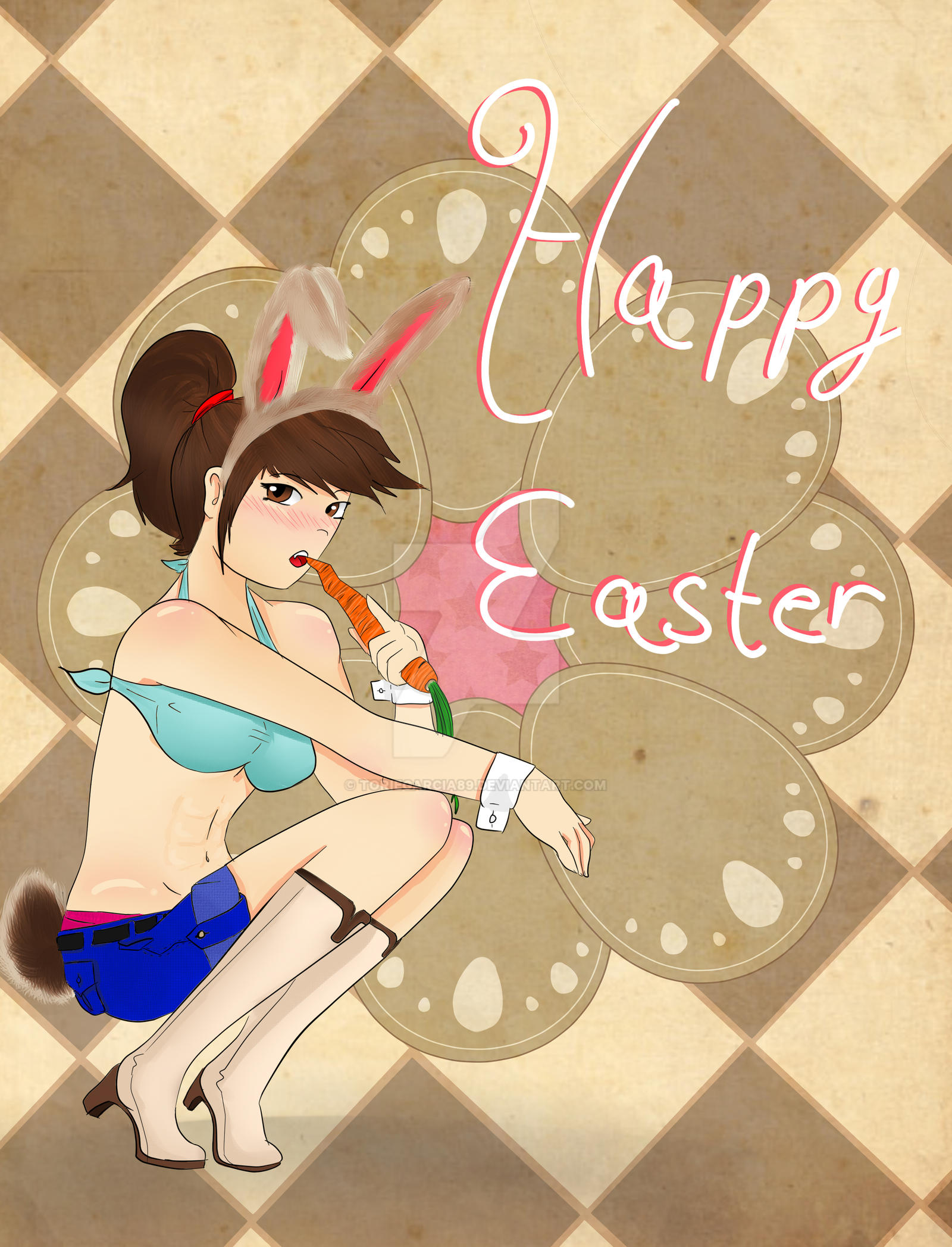 Easter Bunny (My OC) by toriegarcia89