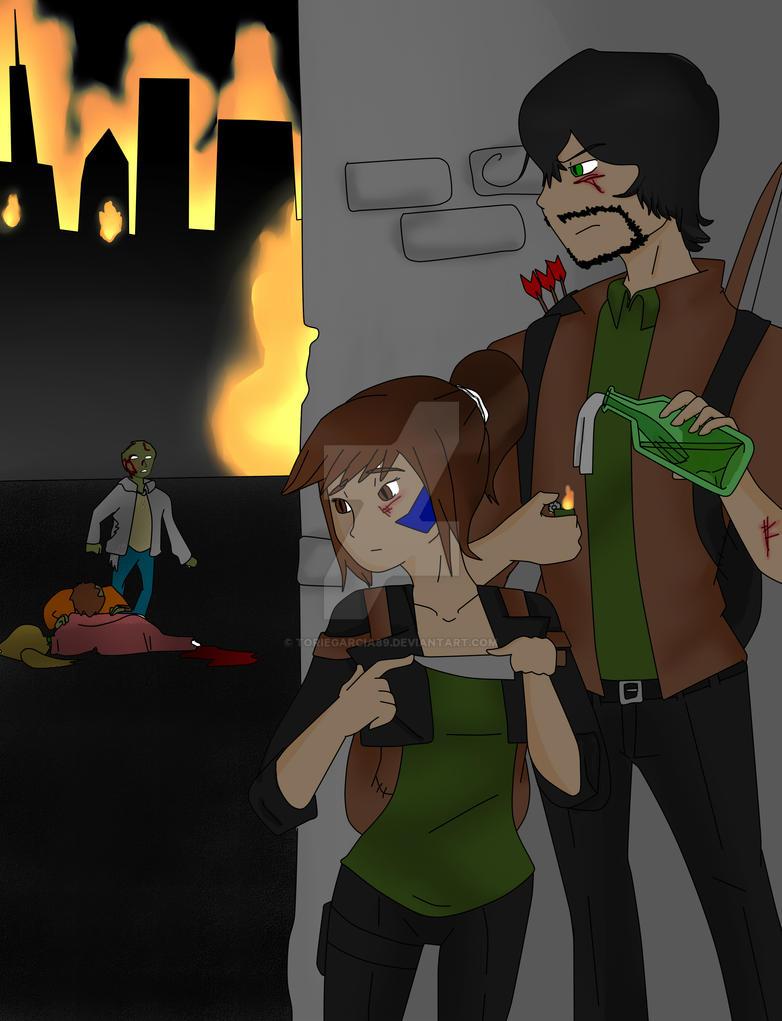 Zombie Hunt (My OCs) by toriegarcia89