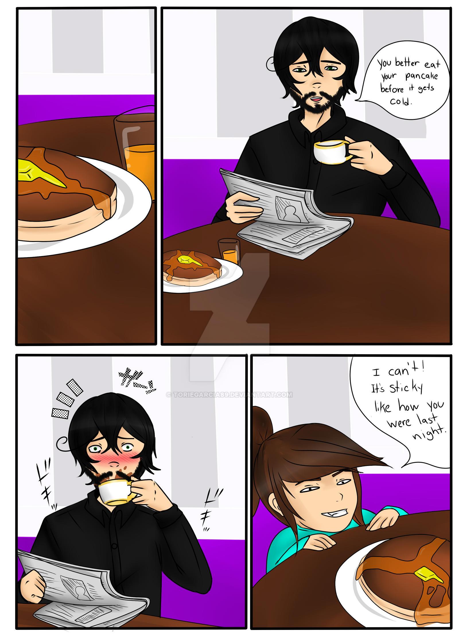 Pancake Scene  (OCs) by toriegarcia89