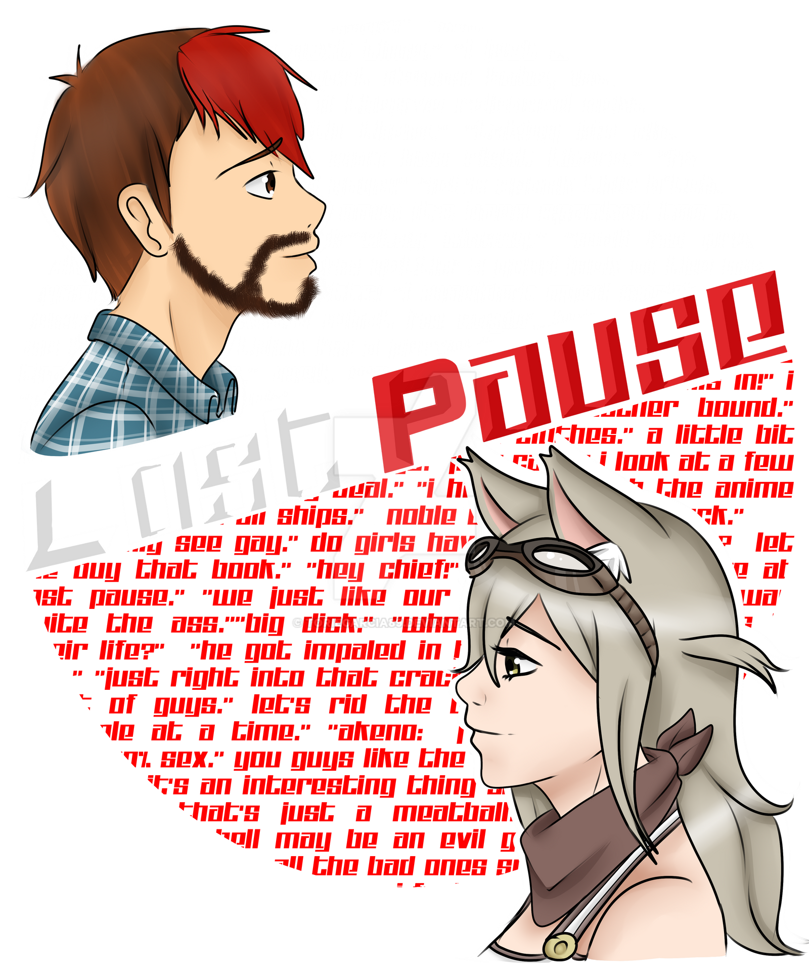 Lost Pause 2nd Shirt Design. by toriegarcia89