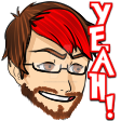 Sponsor Man Twitch Emote. YEAH! by toriegarcia89