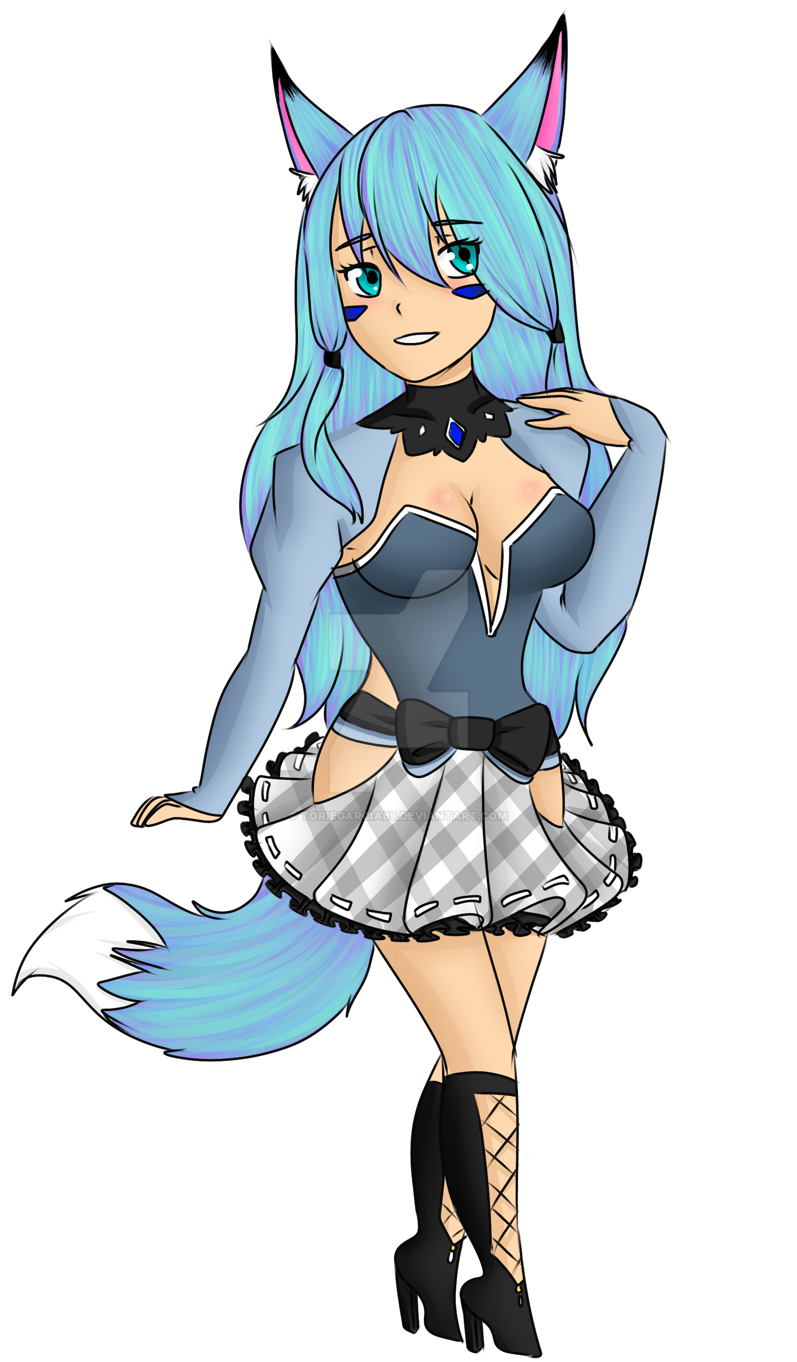 Freiya Foxy Mascot for Ice Master [Commission] by toriegarcia89