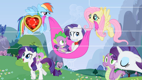 MLP Rarity and Spike PSP Wallpaper by Hidan475