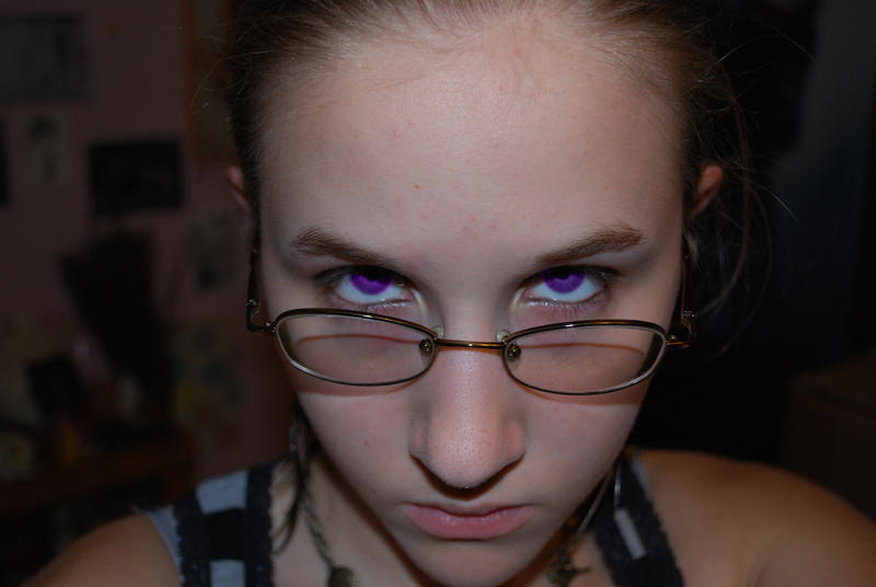 people with purple eyes