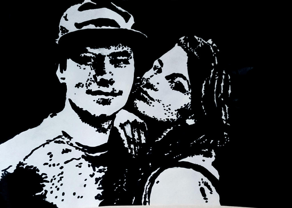Couple Stencil by LilEvry