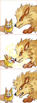Yamper meets Arcanine by SobaInu