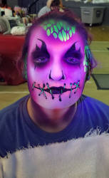 Uv facepaint 2-halloweekends